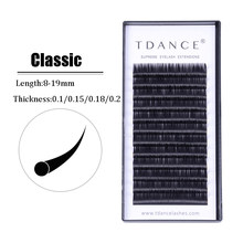 86591478b43 TDANCE Classic individual eyelashes extension False professional mink  Eyelashes Extensions Best Lashes Supplies 0.1-0.2mm