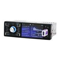 2018 Auto Car Radio Bluetooth Audio Player Auto Radio Tuner 1 DIN with HD Digital Screen FM MP3 MP4 Player Reverse USB Charger