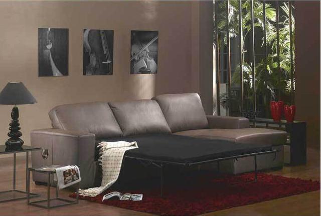 Living Room Sofa bed minimalist modern sofa / sofabed real genuine ...