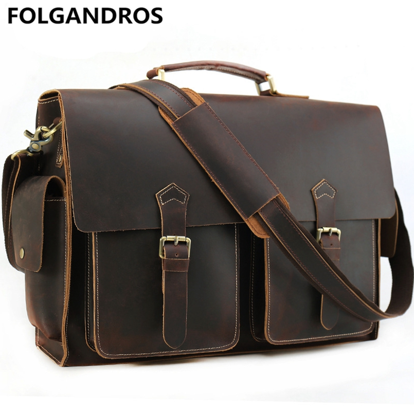 Men's Genuine Leather Briefcases For 17