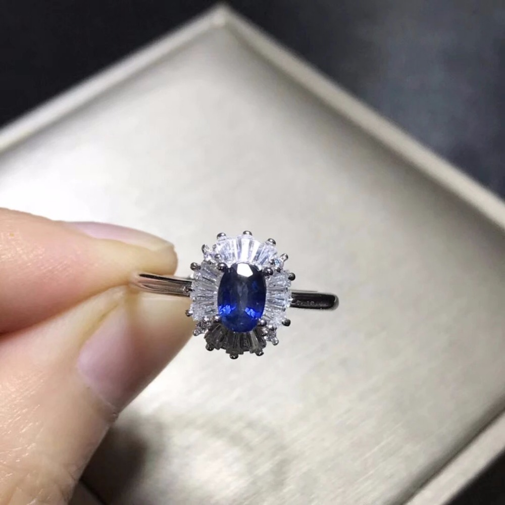 2017 Qi Xuan_Fashion Jewelry_Blue Stone Simple Elegant Woman Rings_S925 Solid Sliver Fashion Rings_Manufacturer Directly Sales2017 Qi Xuan_Fashion Jewelry_Blue Stone Simple Elegant Woman Rings_S925 Solid Sliver Fashion Rings_Manufacturer Directly Sales