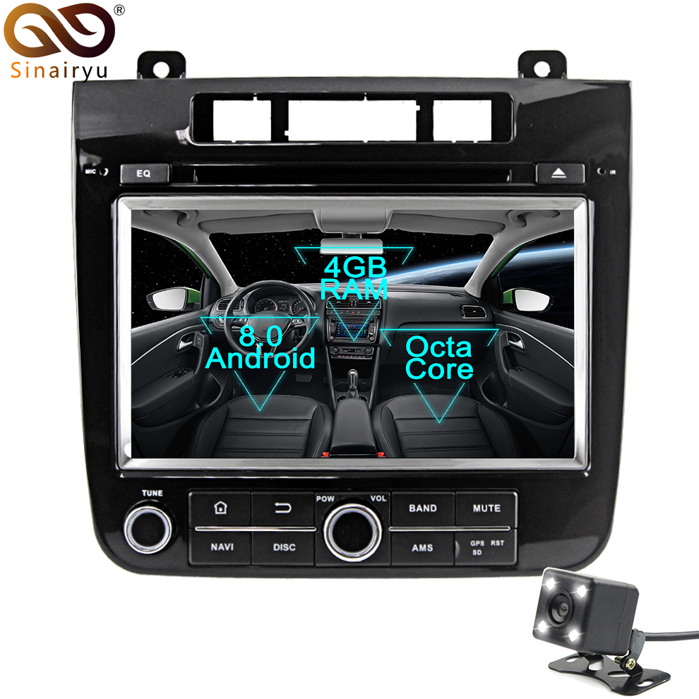 2 Din Android 8 0 Octa Core Car DVD Player for VW Touareg 2011 2012 2013