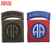 Os Estados Unidos divisão AEROTRANSPORTADA 101 air assault AA remendo Do Exército Moral Tactical Patches Bordados Apliques casaco Hoop & Loop(China)