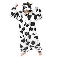 Kiguruma Pyjama Melk Koe Turnpakje/Onesie Animal Nachtkleding Halloween Animal Print Polar Fleece kiguruma Unisex