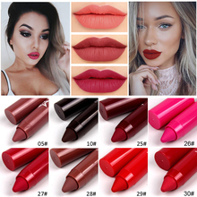 MISS ROSE Lipstick Pencil Cosmetics Matte Lips Pigment Nude Long Lasting Makeup