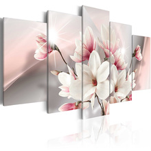 Top Wall Deocr Canvas Painting 5Pcs Flower poster series Modern Printed Oil Pictures Living Room Frame or No /PJMT-B (318)