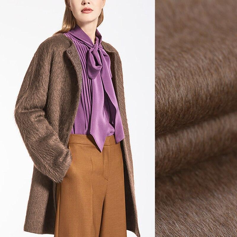 150 см шириной 860 г/м Вес double faced хаки толстая шерсть альпака Ткань для осень зима платье верхняя одежда; пальто куртка de540