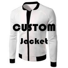 Drop shipping Customize 3D Printed Bomber Jacket for Men Spring Antumn Zip up Jackets for Man Plus Size Coats недорого