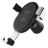 Car Air Vent Mount Wireless Intelligente Fast Charger con Telefono Veicolare Bordo Del supporto Del Basamento per Samsung S8 S7 iPhone X 8 Plus