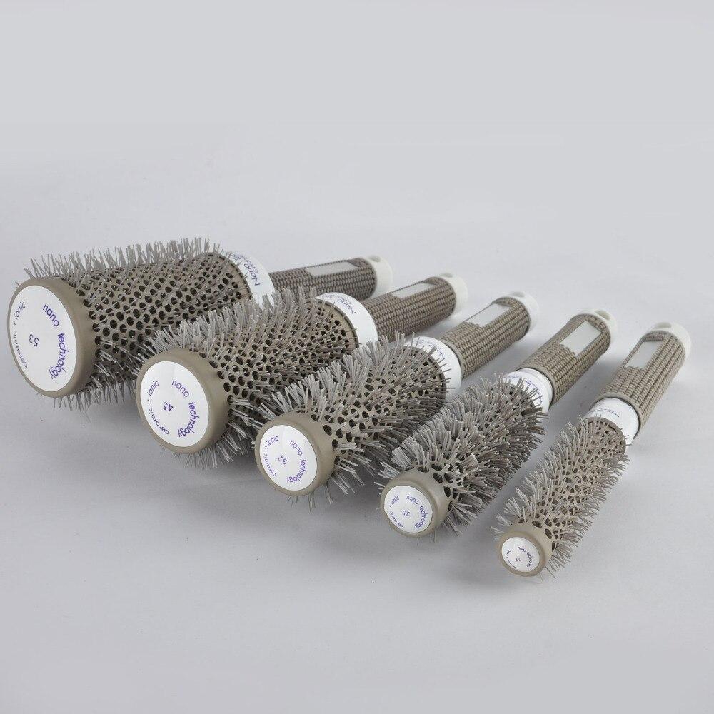 5pcs Rund Rolling Hair Brush Set Barrel Curling Brush Kam Hair - Hårpleie og styling - Bilde 4