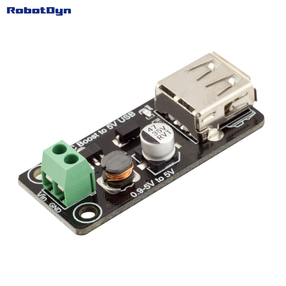 DC-DC Converter Step Up Boost: 0.9-5V To 5V 500mA USB.