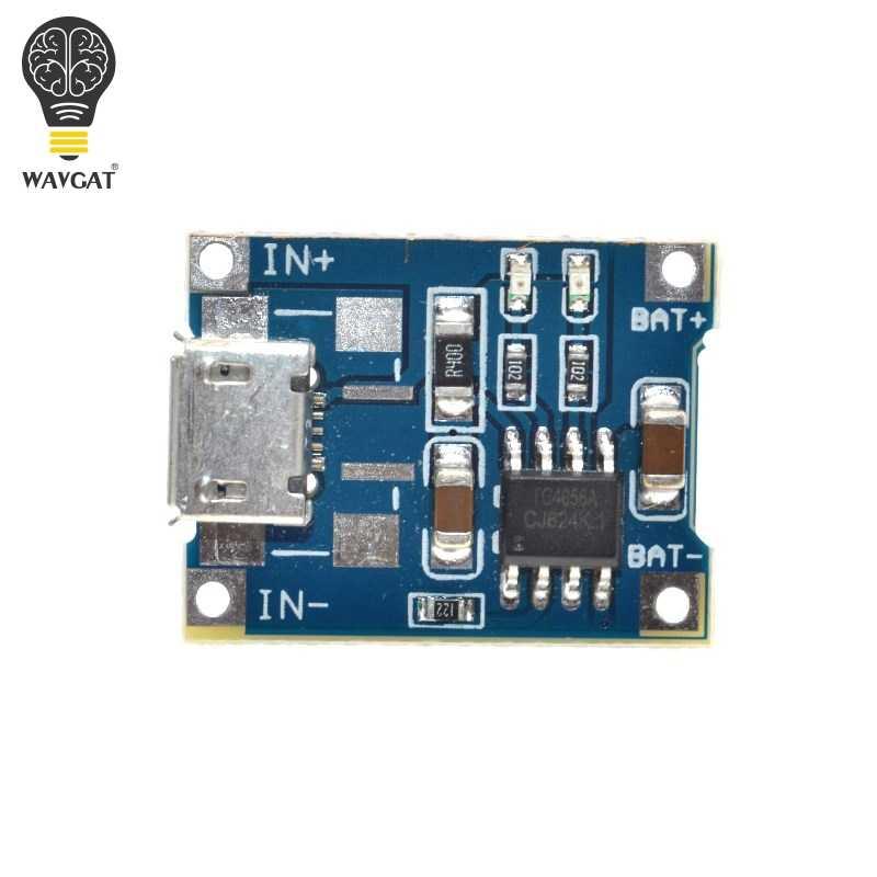 WAVGAT 5 v 1A Micro USB 18650 Lithium Battery Charger Sạc Ban Đun + Bảo Vệ Kép Chức Năng TP4056