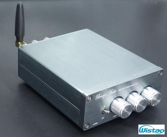 ФОТО HIFI Bluetooth 4.0 Digital Amplifier 2X50W TPA3116 LM1036 Tone Adjustable CSR8630 No Including Power Supply Silver Free Shipping