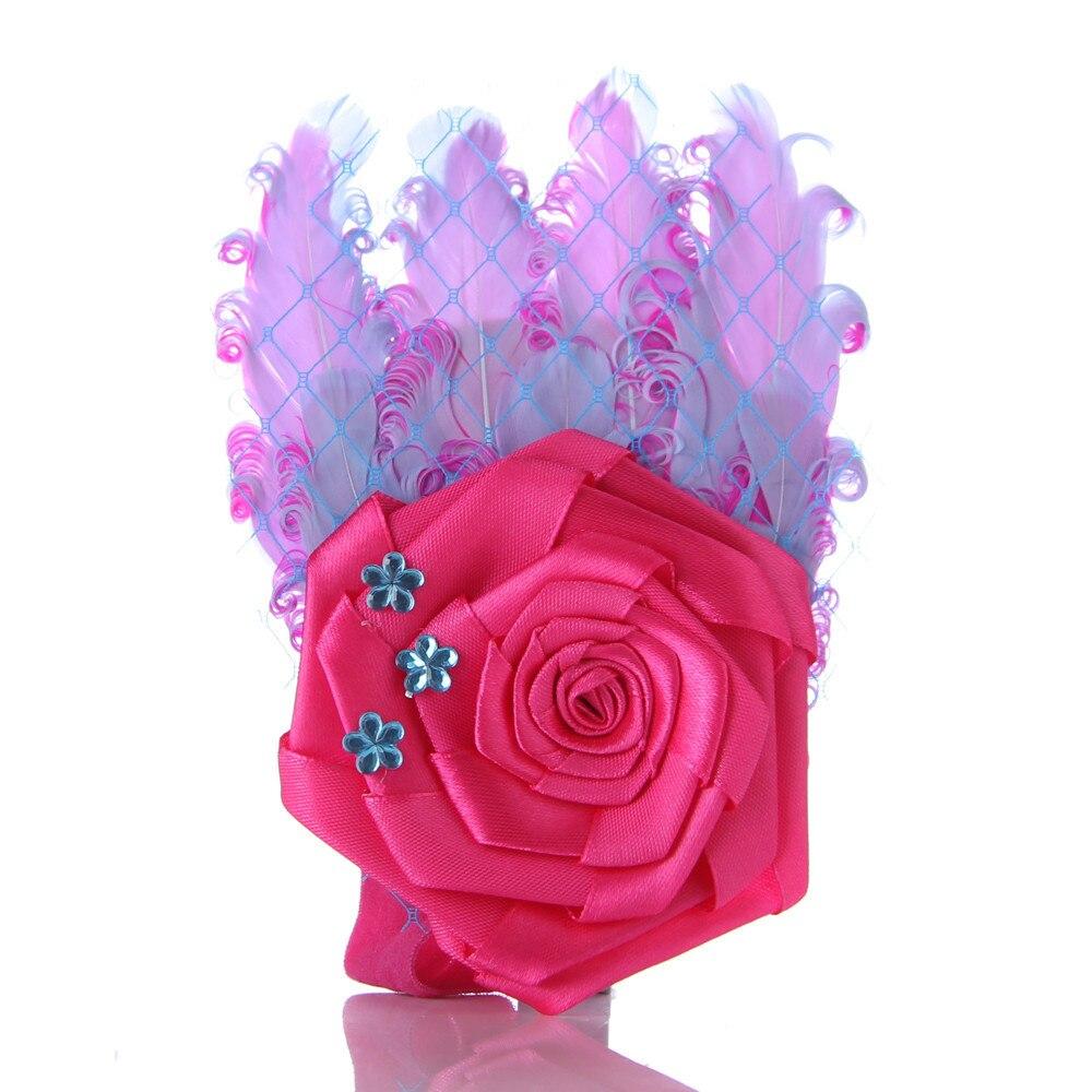 Free shipping Kid's red +blue  Flower Headwear headbands