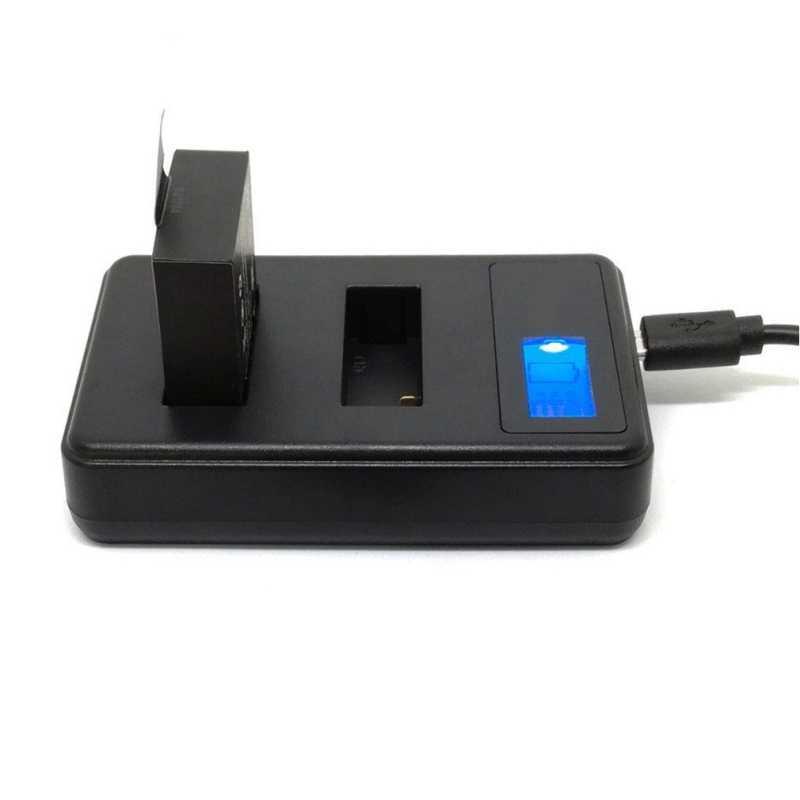 المزدوج فتحة شاحن LCD شاشة عرض ل SJCAM SJ4000/5000/6000/7000/9000/M10/ f68 SOOCOO C30 S100 EKEN H3 H9 البطارية