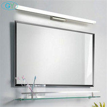 Modern 40cm 50cm 60cm 70cm 90cm LED ayna hafif paslanmaz çelik + alüminyum + akrilik led makyaj tuvalet duvar lambası makyaj lampen