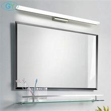 Modern 40cm 50cm 60cm 70cm 90cm LED mirror light Stainless Steel+Aluminum+Acrylic led vanity washroom wall lamp makeup lampen
