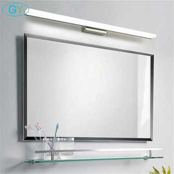 Modern 40cm 50cm 60cm 70cm 90cm LED mirror light Stainless Steel+Aluminum+Acrylic led vanity washroom wall lamp makeup lampen - DISCOUNT ITEM  0% OFF All Category
