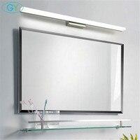 Modern 9W 12W 14W 16W 20W LED mirror front light Stainless Steel+Aluminum+Acrylic led vanity washroom wall lamp warm white light