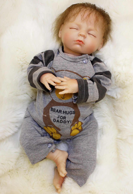 Realista mini silicone reborn bebê bonecas meninos meninas bonecas corpo macio menino olhos fechados brinquedos para crianças 18 jujuguetes