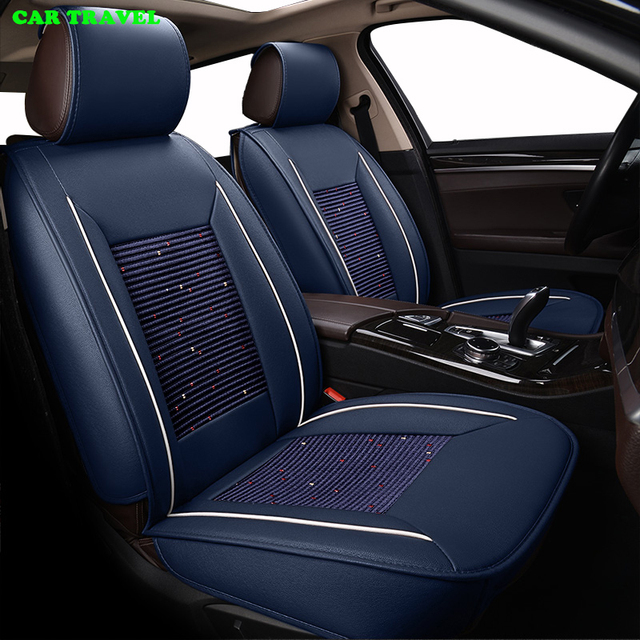 CAR TRAVEL Ice Silk Car Seat Cover Set For Toyota RAV4 Prius PRADO Highlander Seats