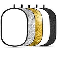 """60×90 cm (24 """"x 36"""") PRO Estúdio Foto Dobrável 5-em-1 Dobrável Oval Portátil Multi-disco Luz do Refletor de Iluminação Fotográfica"""