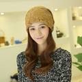 2016 High Quality Warm Wool Caps Knitted Beanies Hat  Scarf Autumn WInter Women Hat Solid Beanies hollow out flowers
