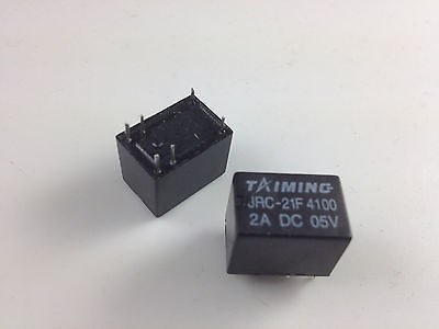 цена на 50pcs Miniature PCB Relay JRC-21F 4100 DC 5V 6 Pins