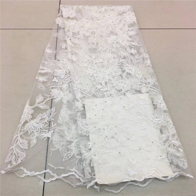 Fashion Nigerian Lace Fabrics 2018 With Stones African French Net Lace Fabric Embroidered Tulle Mesh Lace FabricFashion Nigerian Lace Fabrics 2018 With Stones African French Net Lace Fabric Embroidered Tulle Mesh Lace Fabric