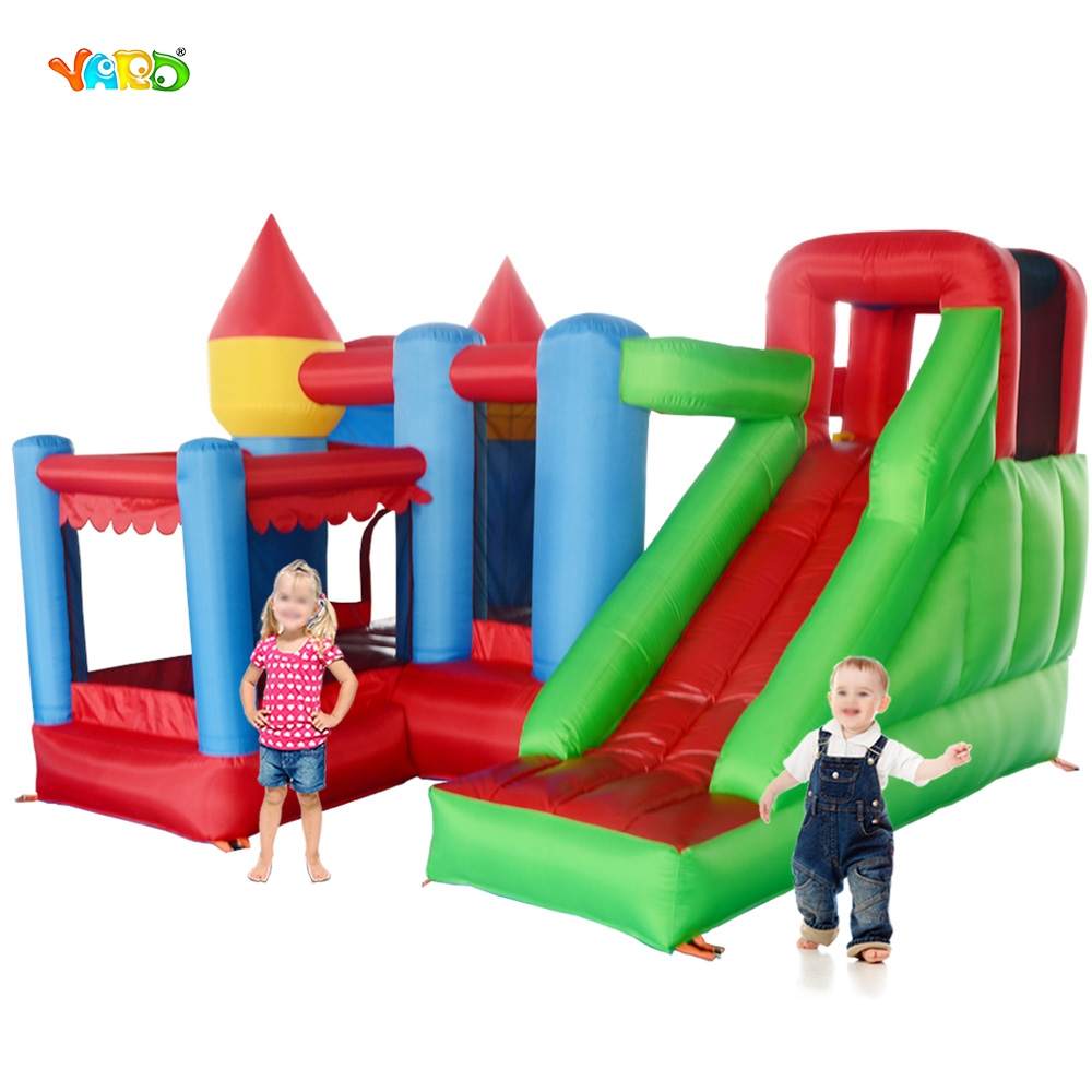 YARD Home Use Inflatable Bouncer Kids Bouncy Castle Mini Trampoline Bounce House for Party Events Special Gift for Childrend nylon home used bouncer inflatable castle jumping castle trampoline bounce house mini bouncy castle bouncer kids toys for sale