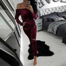 Beautiful Velvet Jumpsuit for Women