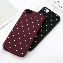 Lovebay Phone Case For iPhone 5 5s SE 6 6s 7 8 Plus Fashion Soft TPU Cute Cartoon Wave Point Ploka Dots For iPhone X Phone Case