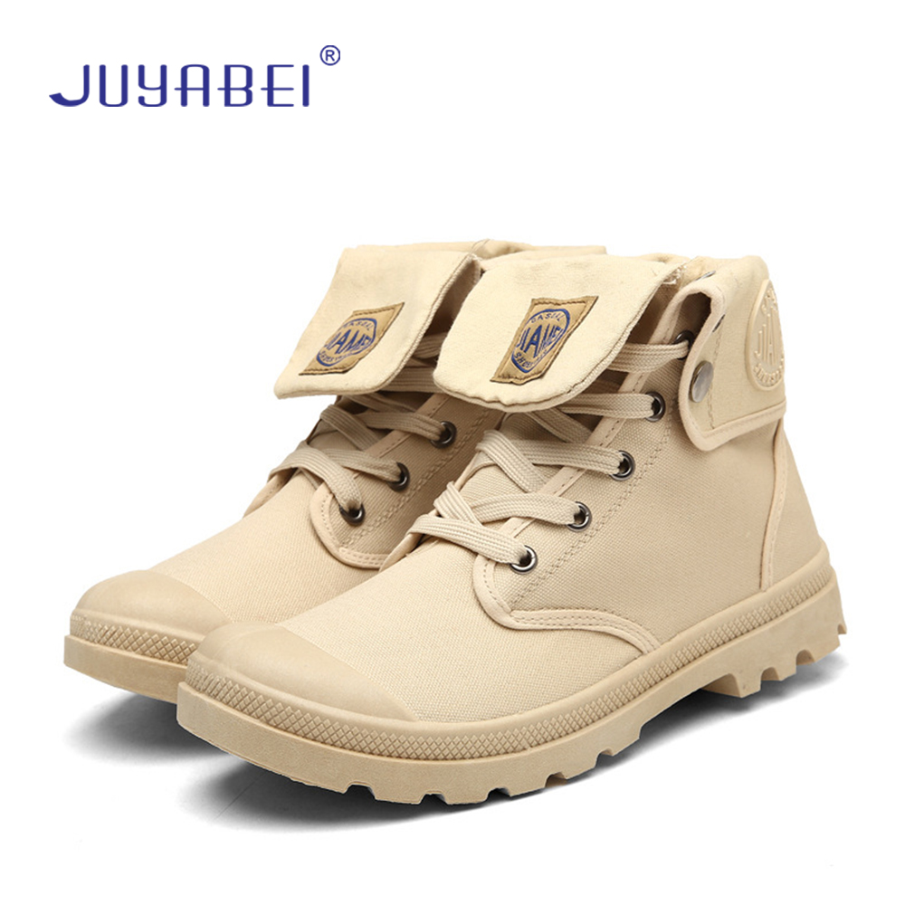 Large Size Military Shoes Martin Boots Trend Canvas Tooling Military Boots England High To Help Casual Men's Military Boots
