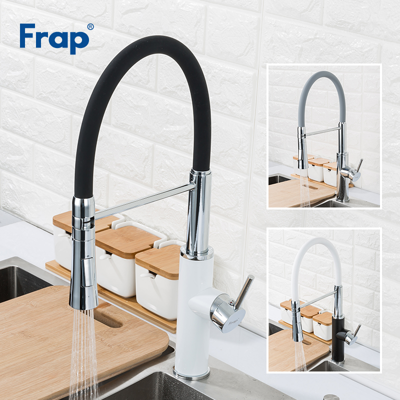 FRAP Kitchen Faucet Pull Out Water Taps 2 Function Spout Kitchen Mixer Faucet Cold And Hot Water Sink Faucet Grifo Cocina