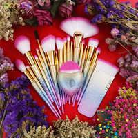 Docolor 19PCS Fantasy Borstels Collection Beauty Make Up Borstels Top Synthetisch Haar Regenboog Hand Best Gift Voor Vrouwen