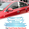 Para Ford Fiesta Hatchback 2013 2014 2015 Carro Janela Completa Guarnição Chrome Cobre Tiras Chromium Styling Acessórios de Decoração