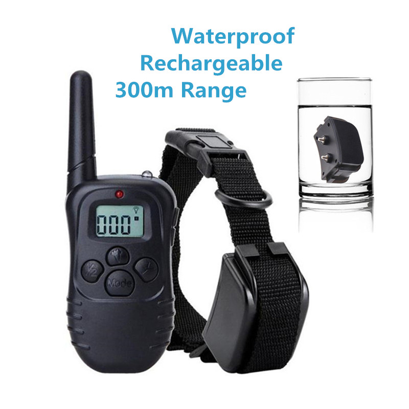 Pet Dog Remote Training Collar Rechargeable Waterproof Electronic Dog Shock Collar Remote Shocker Training Equipment For Dogs dog care training collar