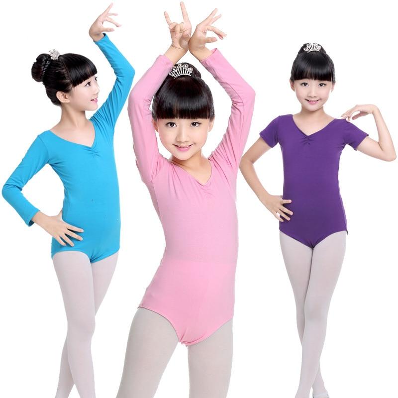 f6cbb5493 Kids Ballerina Cotton Ballet Dance Gymnastics Leotard for Girls ...