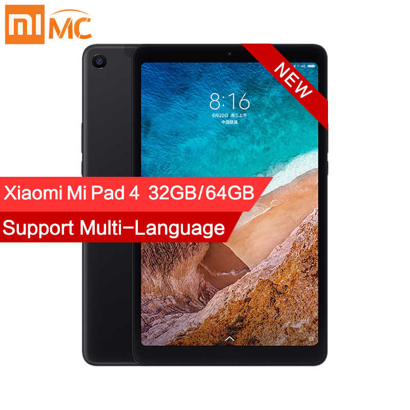 "Original Xiaomi Mi Pad 4 PC Tablet 8.0"" 1920x1200 FHD Tablets MIUI 10 Snapdragon 660 Octa Core Dual WiFi 13MP+5MP Camera 6000mAh"