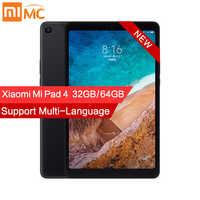 Original Xiao mi mi Pad 4 PC Tablet 8.0 FHD 1920x1200 Tablets mi UI 10 Snapdragon 660 octa Dual Core Wi-fi 13MP + 5MP Câmera 6000mAh
