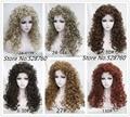 Природный пушистый белый / длинные волнистые фигурные парики высокое качество парики из синтетических волос бесплатная доставка