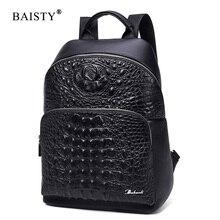 Baisty марка 2017 Мужской PU кожаные рюкзаки аллигатора маленькие Ежедневные Рюкзаки школьные модные сумки для подростков девочек школьный