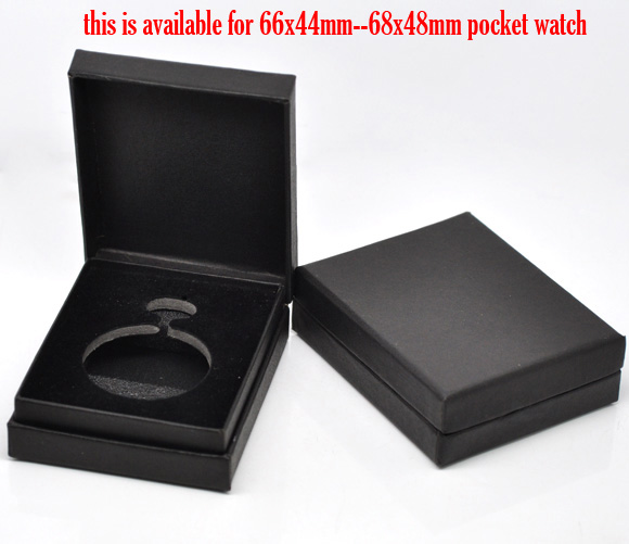 Doreen Box Paper & Velvet Jewelry Pocket Watch Gift Boxes ...