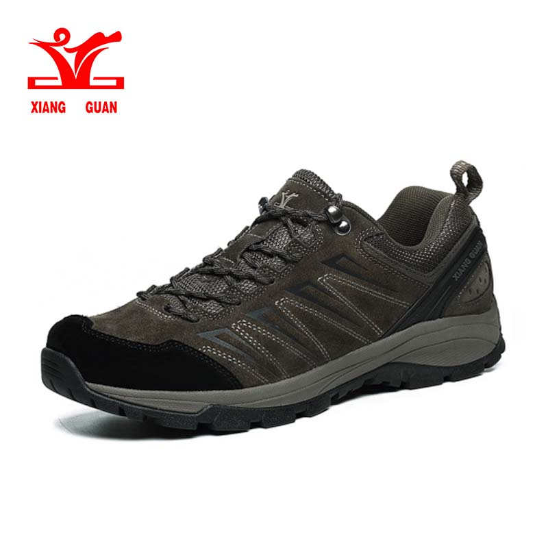 xiangguan Hiking Shoes Man Waterproof Breathable Gray Mountain Climbing Outdoor Shoes Nylon leather Trekking Sneakers 36-45 zippo zippo 28264