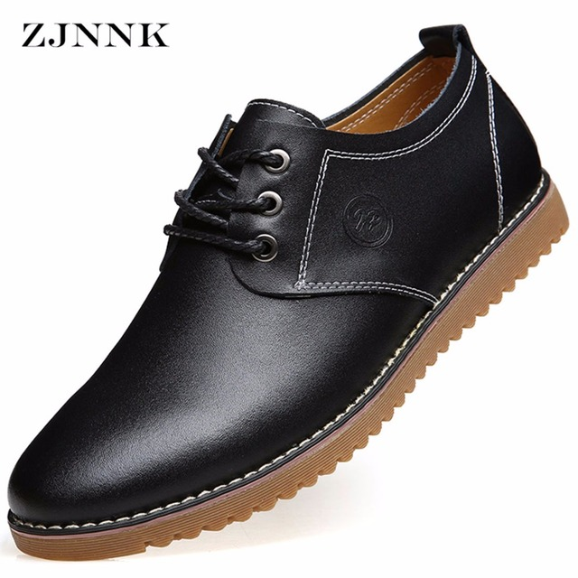 Zjnnk En Casual Supplémentaire Taille Chaussures Hommes Cuir Grande qUzSwxS1X