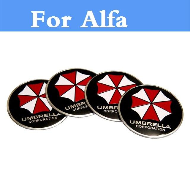 Car Steering Wheel Center Hub Cap Umbrella Decal Symbol Sticker For