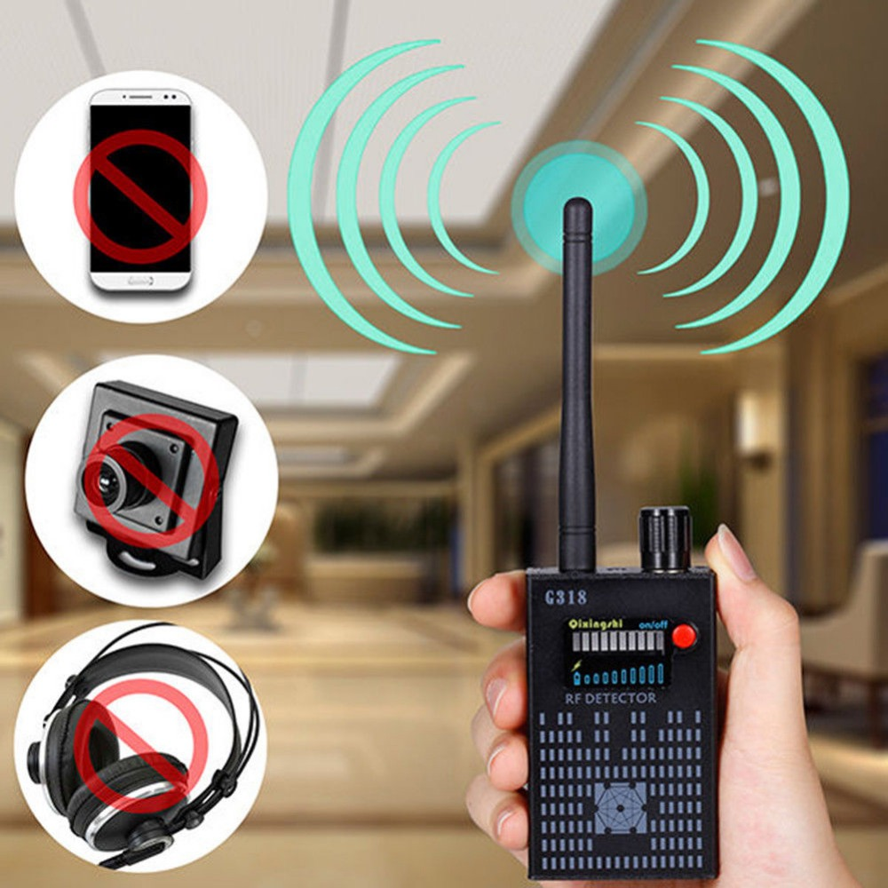 Anti-Spy wireless Amplification rf Detector Bug Hidden Signal Detector Gadgets G318 Tracer Finder 2G 3G 4G Detector