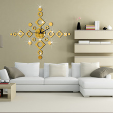 65x65cm Home Decor Big Wall Clock Modern Design Windbell Geometric Living Room Quartz Decorative Designer Clocks Wall Watch
