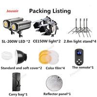 CE150W + SUNlight 200 фотографический свет светодио дный фильм свет ТВ Spotlight видео лампы Комплект для фотосъемки CD50 T03