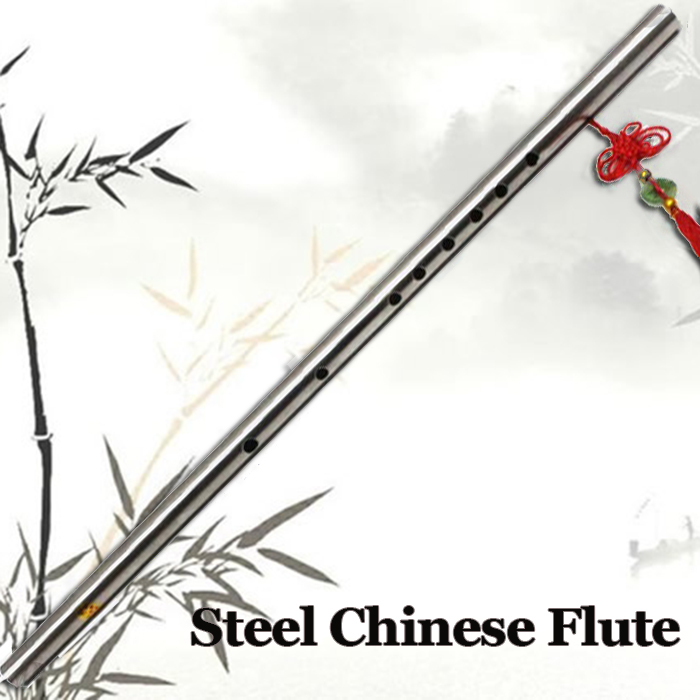 Stainless Steel Chinese Flute Dizi Traditional Pro...